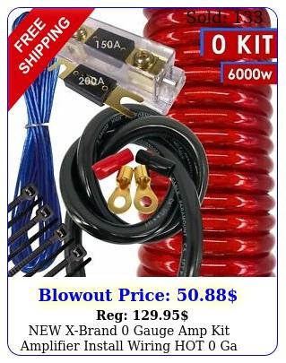 xbrand gauge amp kit amplifier install wiring hot ga wire red