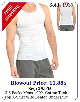 packs mens cotton tank top ashirt wife beater undershirt ribbed muscl