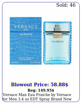 versace man eau fraiche by versace men oz edt spray brand ne