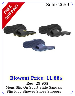 mens slip on sport slide sandals flip flop shower shoes slippers house pool gy