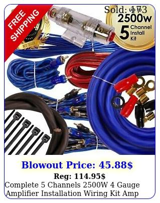 complete channels w gauge amplifier installation wiring kit amp pk blu