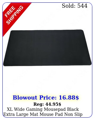 xl wide gaming mousepad black extra large mat mouse pad non slip rubbe