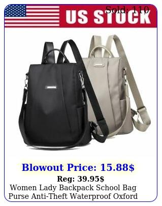 women lady backpack school bag purse antitheft waterproof oxford cloth rucksac
