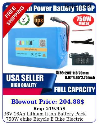 v ah lithium liion battery pack w ebike bicycle e bike electric charge