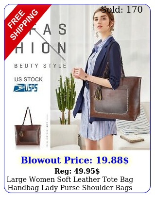large women soft leather tote bag handbag lady purse shoulder bags lb max loa