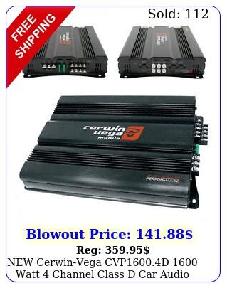 cerwinvega cvpd watt channel class d car audio amplifier am