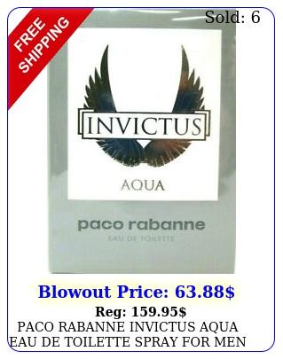 paco rabanne invictus aqua eau de toilette spray men oz ml bran
