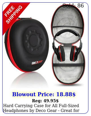 hard carrying case all fullsized headphones by deco gear great trave