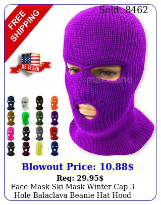 face mask ski mask winter cap hole balaclava beanie hat hood tactical warm me
