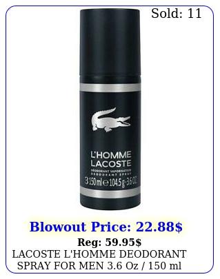 lacoste l'homme deodorant spray men oz  ml brand ite