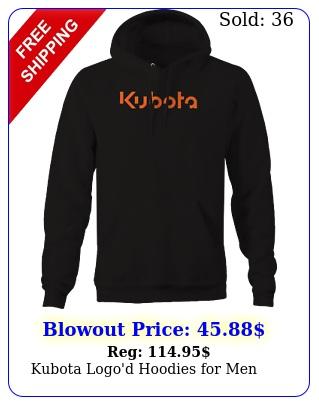 kubota logo'd hoodies me