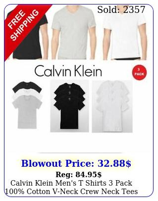 calvin klein men's t shirts pack cotton vneck crew neck tees undershirt