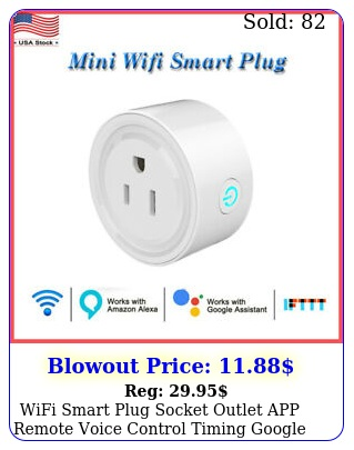 wifi smart plug socket outlet app remote voice control timing google home alex