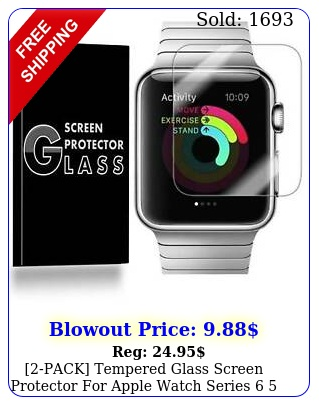 pack tempered glass screen protector apple watch series  se m