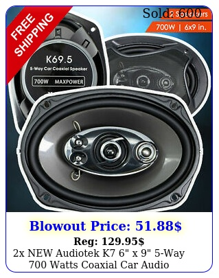 x audiotek k x way watts coaxial car audio speakers cea rate