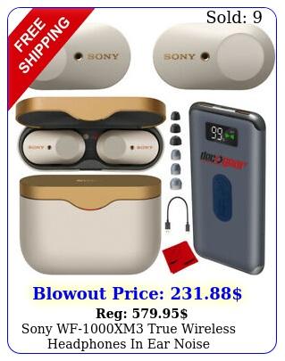 sony wfxm true wireless headphones in ear noise cancellation bundle silve