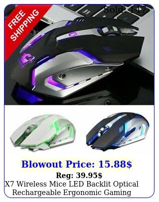 x wireless mice led backlit optical rechargeable ergonomic gaming mouse u