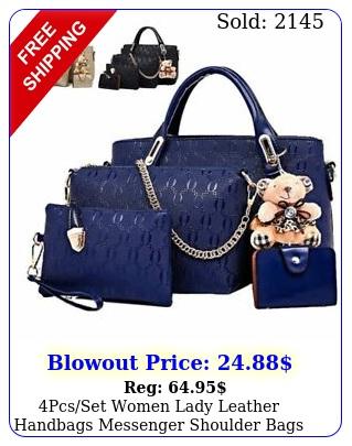 pcsset women lady leather handbags messenger shoulder bags tote satchel purs