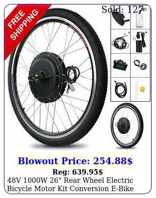 v w rear wheel electric bicycle motor kit conversion ebike cyclin