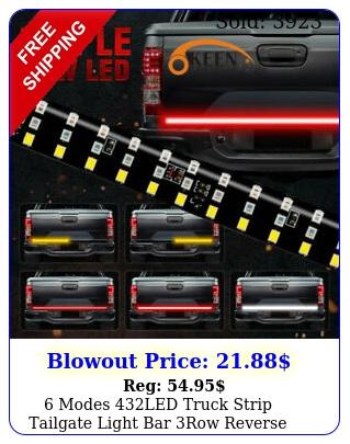 modes led truck strip tailgate light bar row reverse brake signal tai
