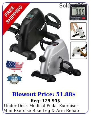 under desk medical pedal exerciser mini exercise bike leg arm rehab traine