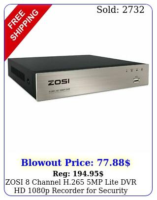 zosi channel h mp lite dvr hd p recorder security camera syste