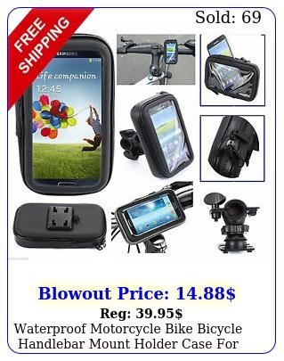 waterproof motorcycle bike bicycle handlebar mount holder case cell phone u