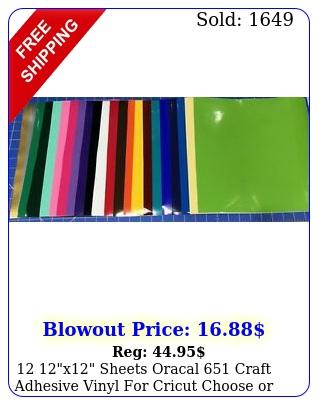 x sheets oracal craft adhesive vinyl cricut choose or mix colo