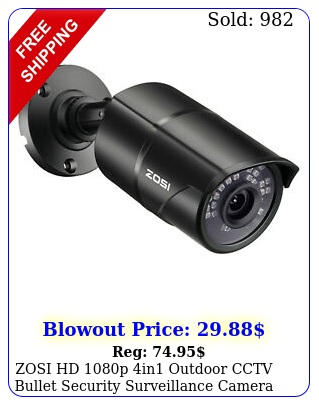 zosi hd p in outdoor cctv bullet security surveillance camera wide angl