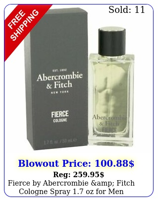 fierce by abercrombie amp fitch cologne spray oz me