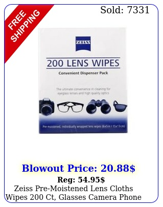 zeiss premoistened lens cloths wipes ct glasses camera phone cleanin