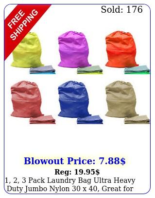 pack laundry bag ultra heavy duty jumbo nylon x great colleg