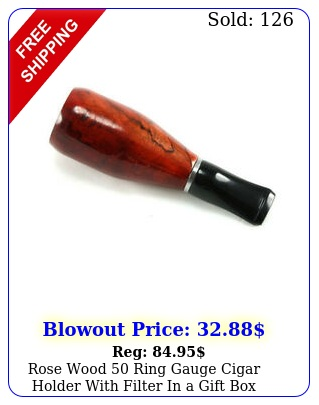 rose wood ring gauge cigar holder with filter in a gif