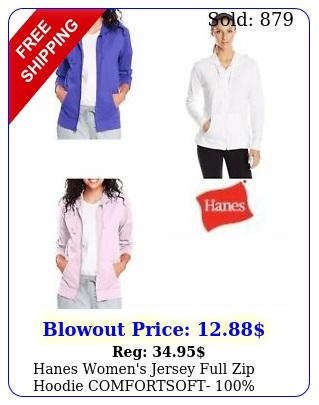 hanes women's jersey full zip hoodie comfortsoft cotton purplepinkgra