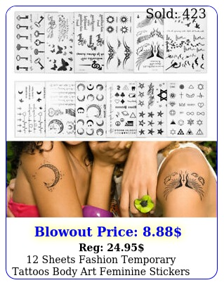 sheets fashion temporary tattoos body art feminine stickers waterproof symbo