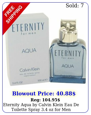 eternity aqua by calvin klein eau de toilette spray oz me
