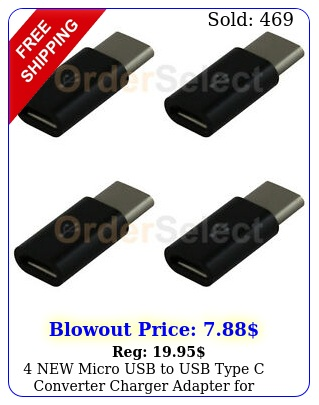 micro usb to usb type c converter charger adapter android cell phon