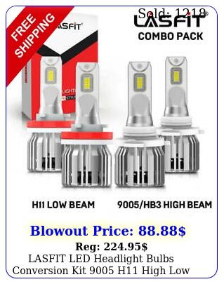 lasfit led headlight bulbs conversion kit h high low beam bright whit