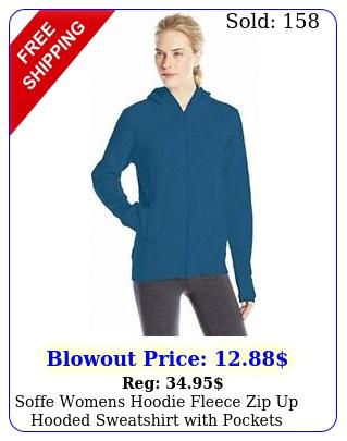soffe womens hoodie fleece zip up hooded sweatshirt with pockets premium qualit