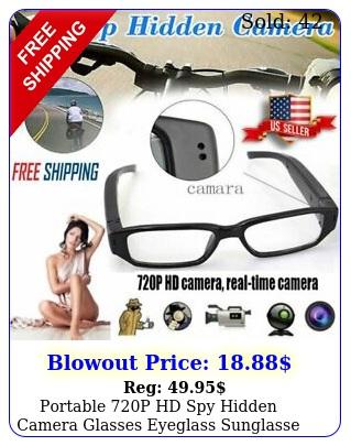 portable p hd spy hidden camera glasses eyeglass sunglasse cam dvr camcorde