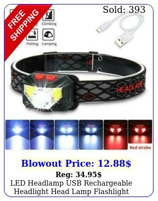 led headlamp usb rechargeable headlight head lamp flashlight camping waterproo