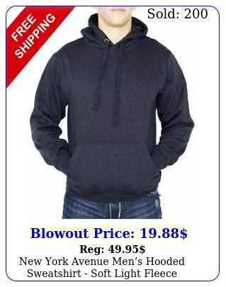york avenue mens hooded sweatshirt soft light fleece pullover hoodi