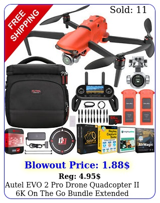 autel evo pro drone quadcopter ii k on the go bundle  extended warranty ki
