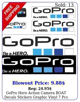 gopro hero action camera boat decals stickers graphic vinyl pcs big waterproo
