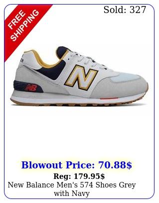 balance men's shoes grey with nav