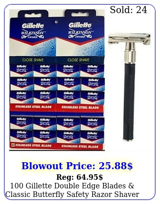 gillette double edge blades classic butterfly safety razor shave