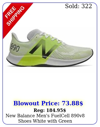 balance men's fuelcell v shoes white with gree