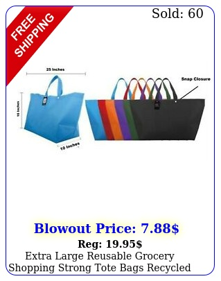extra large reusable grocery shopping strong tote bags recycled eco friendl