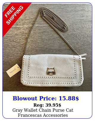 gray wallet chain purse cat francescas accessorie