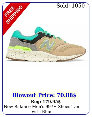 balance men's h shoes tan with blu